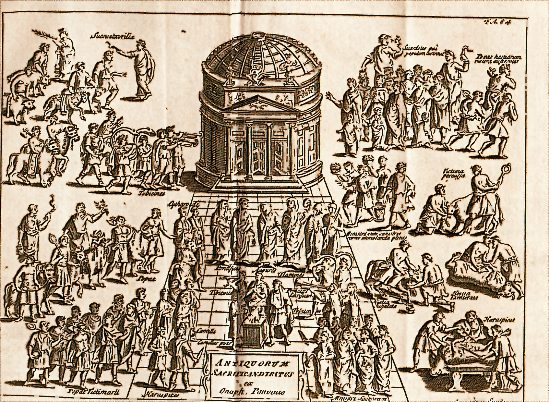ancient roman religion The beginnings of religion in ancient rome the origins of the roman pantheon began with the small farming community that made up the ancient village of rome the foundations of the mythology included nameless and faceless deities that lended support to the community while inhabiting all objects and living things.