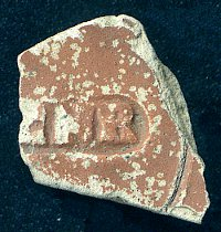 Roman pottery sherd with stamp