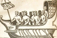 A roman ship with its crew.