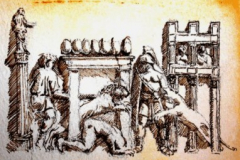 A gladiator defending himself from wild beasts in the Circus Maximus
