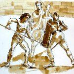gladiator fight colosseum