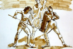 gladiator fight at the Colosseum