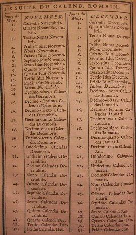 Roman Calendar.Mariamilani Ancient Rome