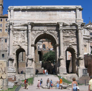 Arch of Septimius Severus in the Roman Forum