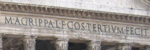 Inscription to Agrippa on the Pantheon